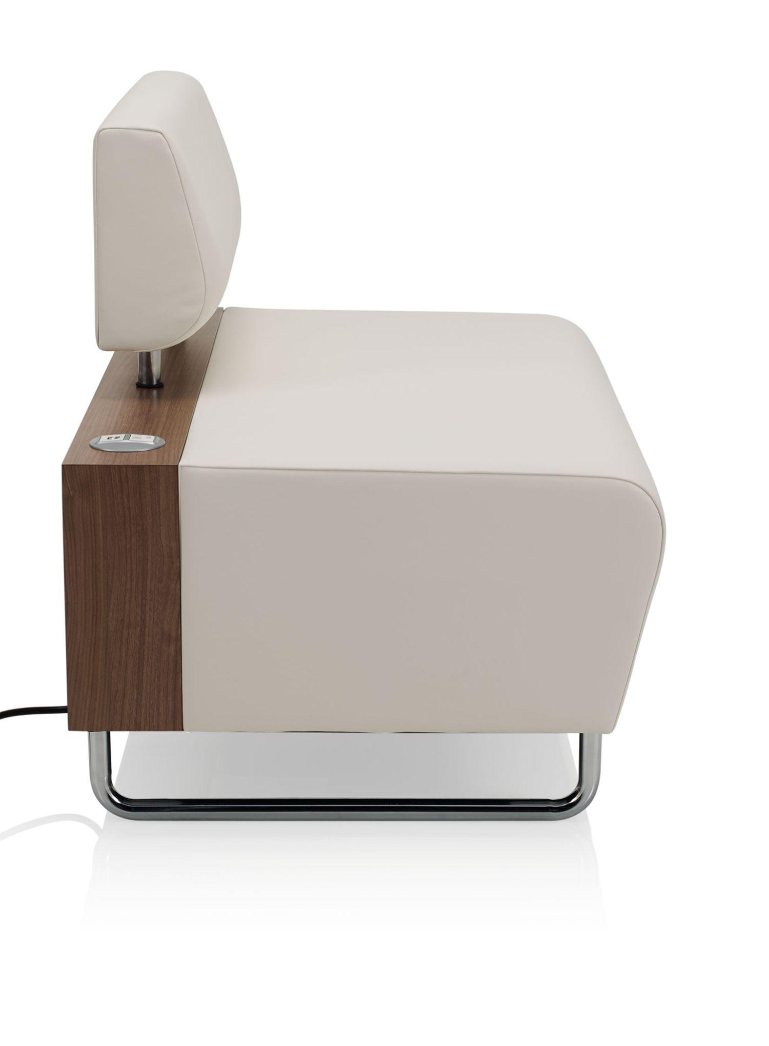 ki hub modular lounge chair side view