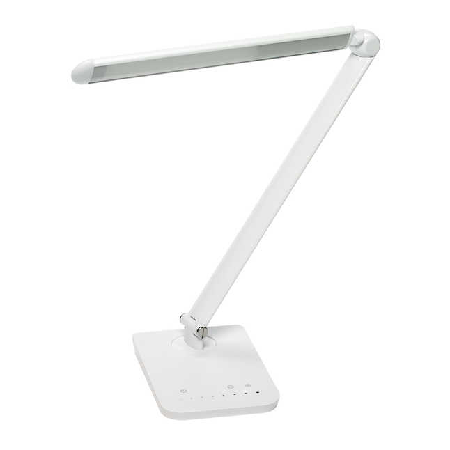 white vamp desk lamp