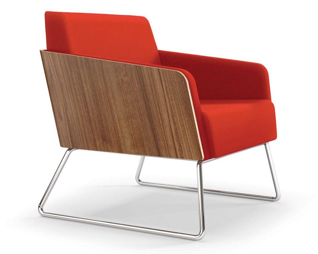 ki lyra exposed wood lounge chair