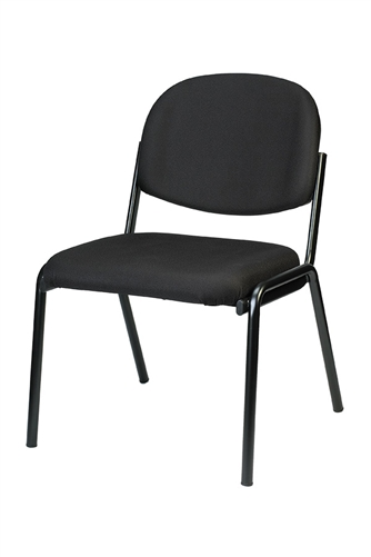 Eurotech Seating Dakota Series Black Fabric Guest Chair 8014