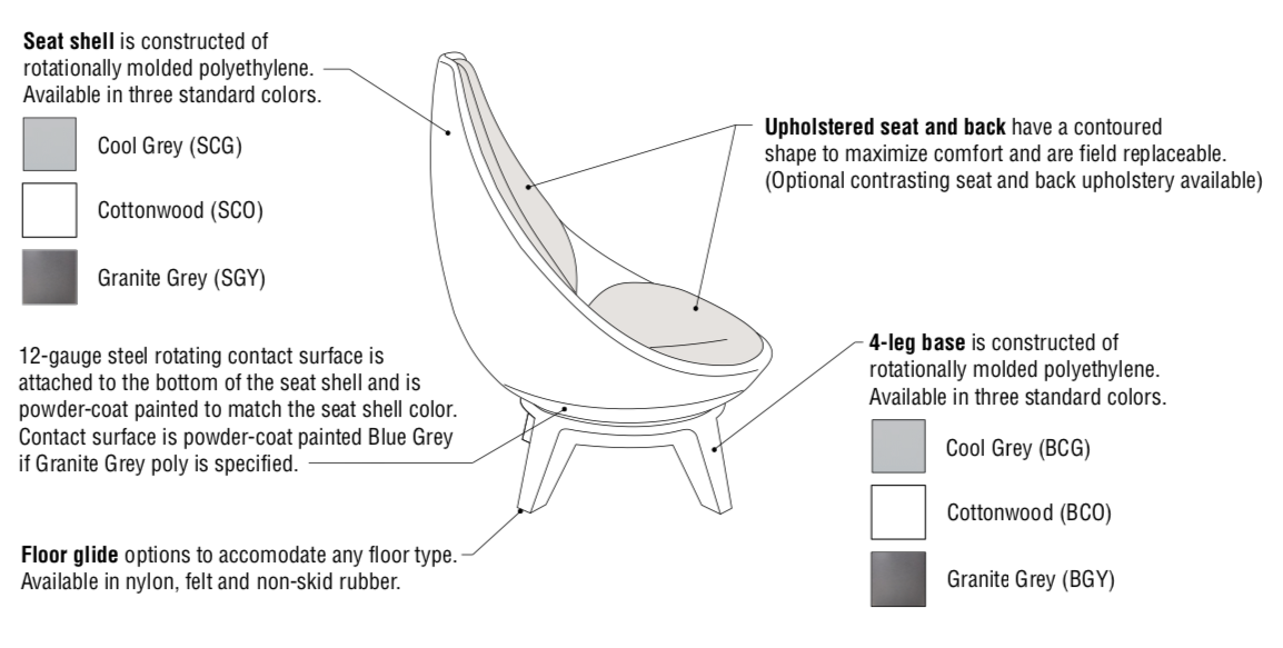 ki sway chair features
