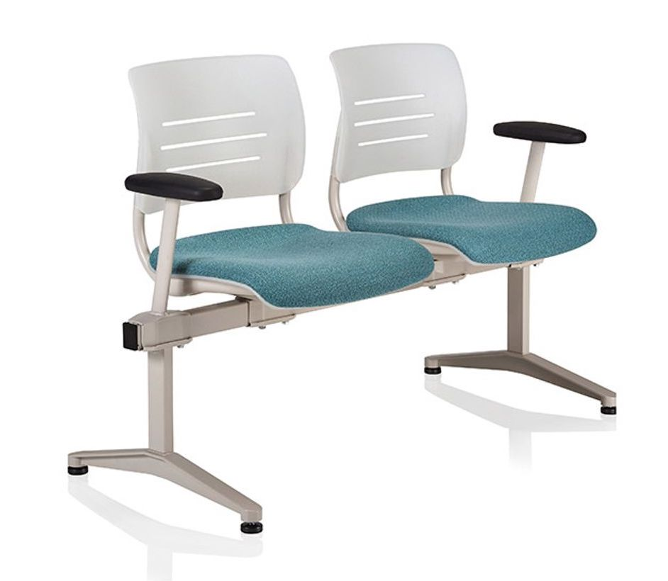 ki grazie 2 person beam chair with upholstered seat