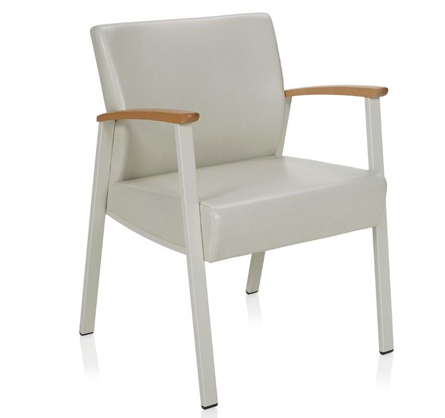 ki soltice open arm leather guest chair