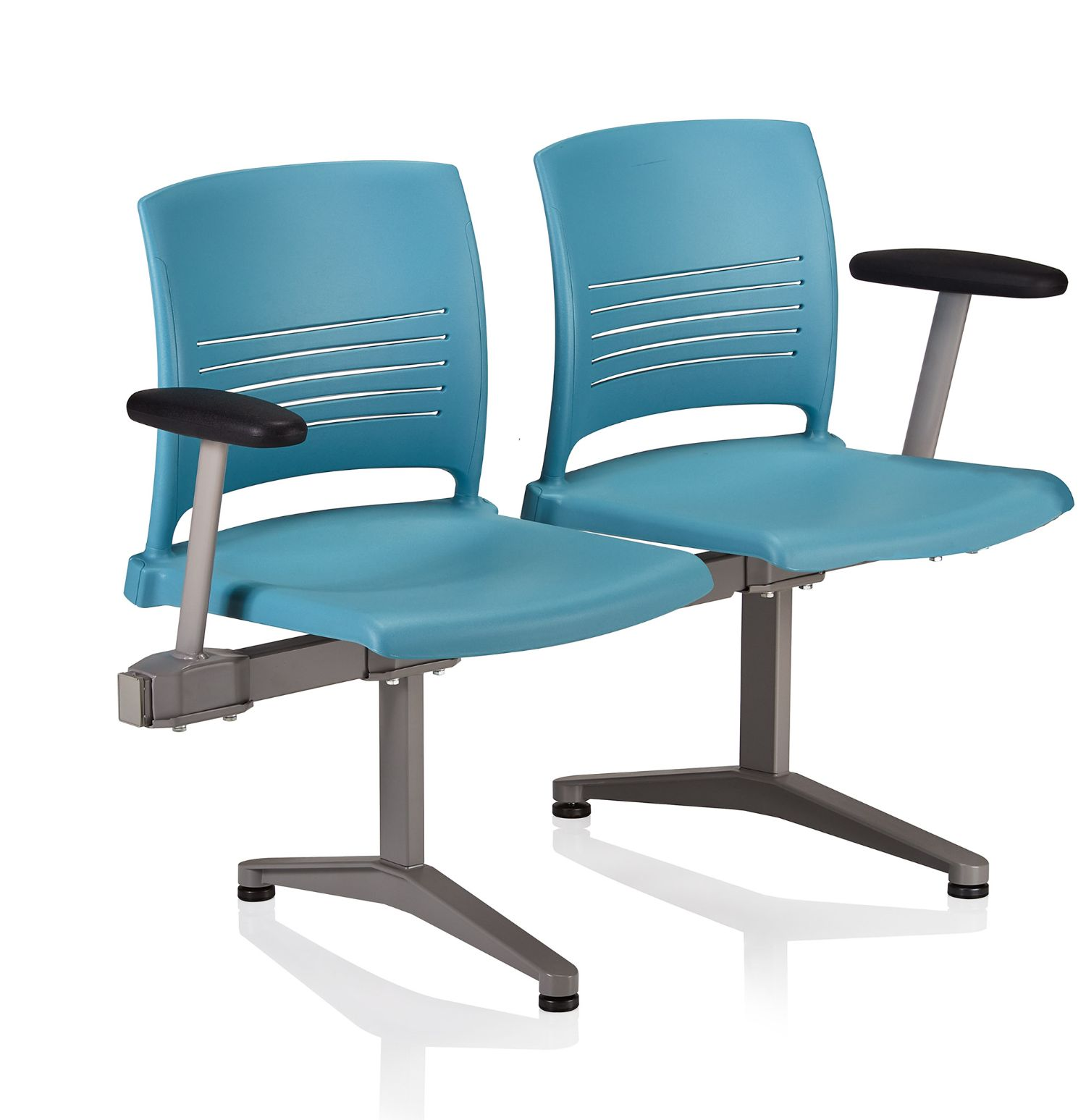 ki strive 2 person beam chair with outside arms