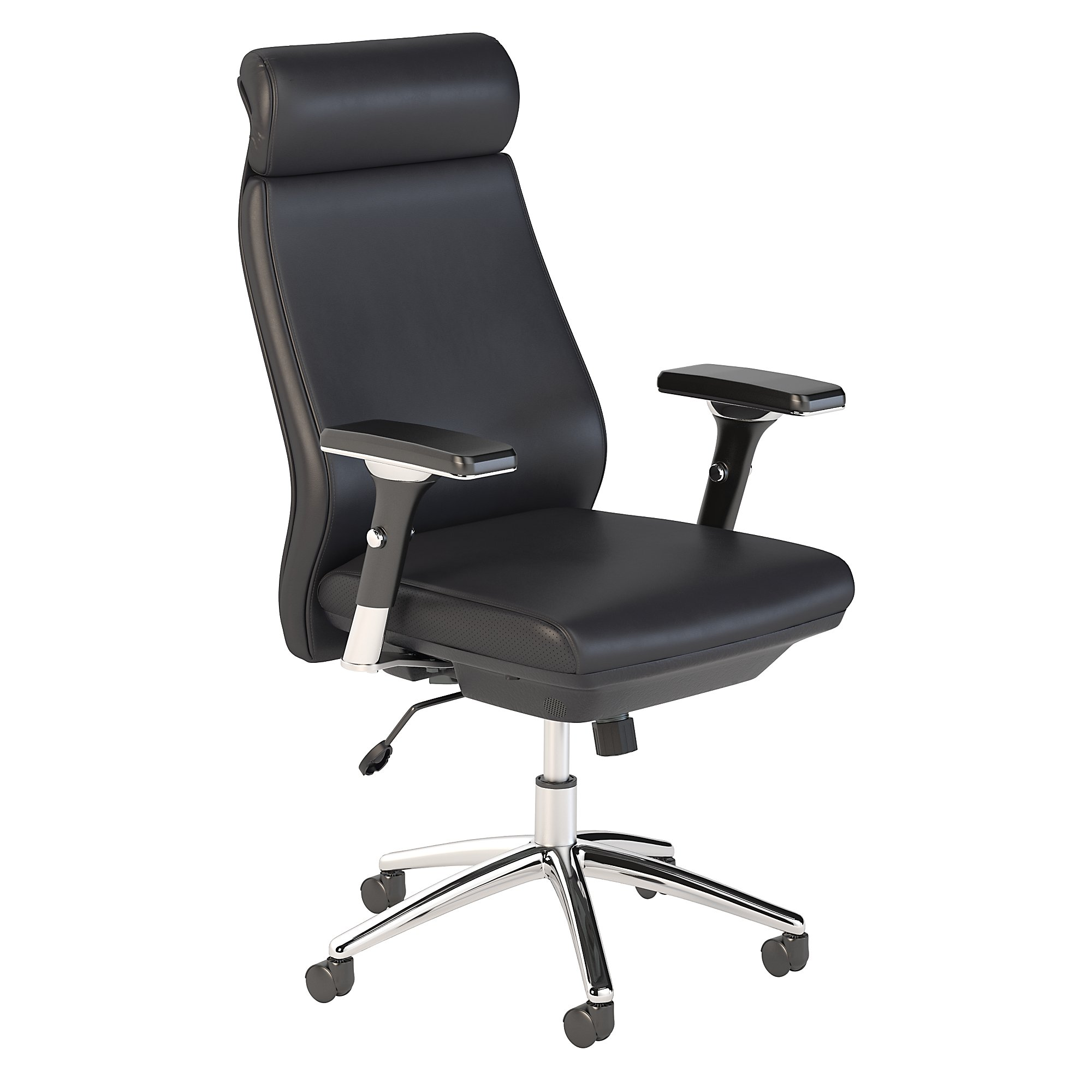 bush business furniture metropolis high back leather office chair