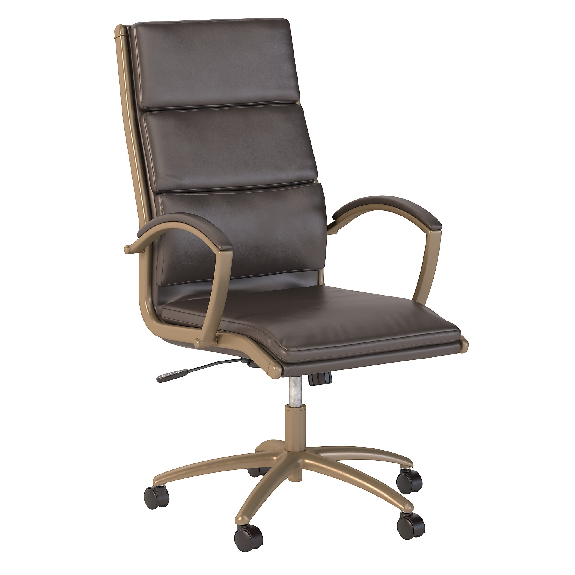 bush business furniture brown leather modelo chair