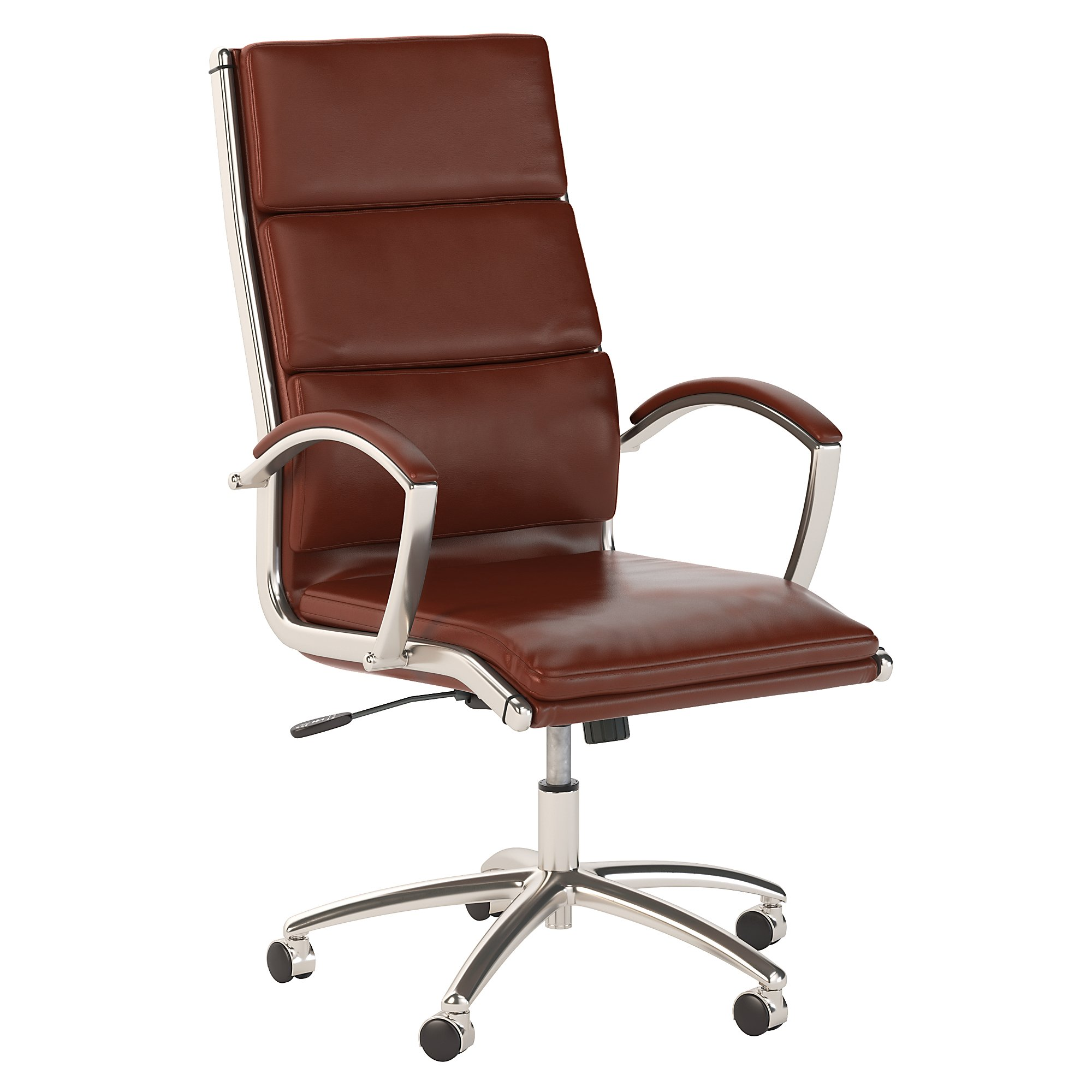 bush business furniture harvest cherry leather modelo chair