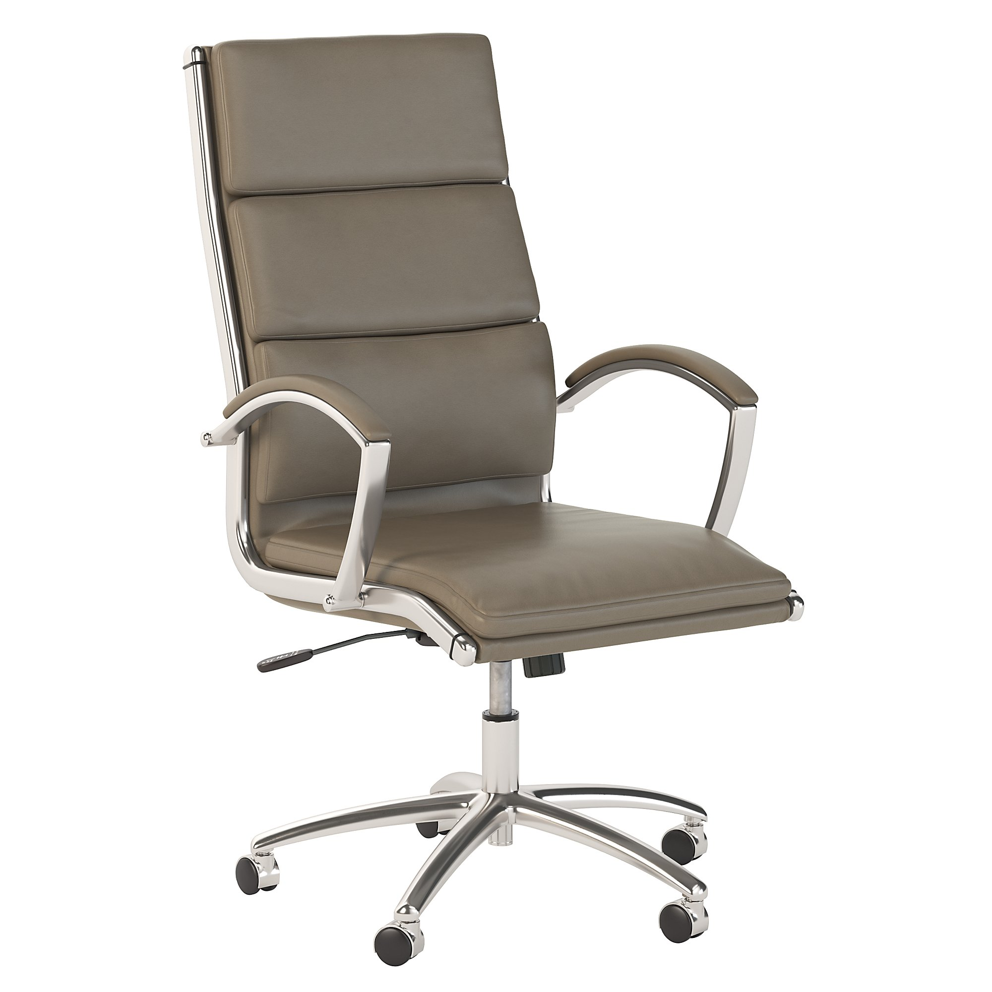 bush business furniture washed gray leather modelo chair