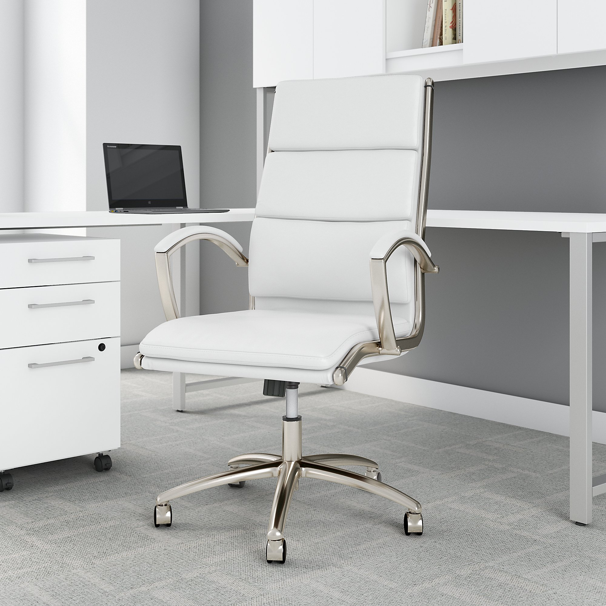 white leather modelo chair