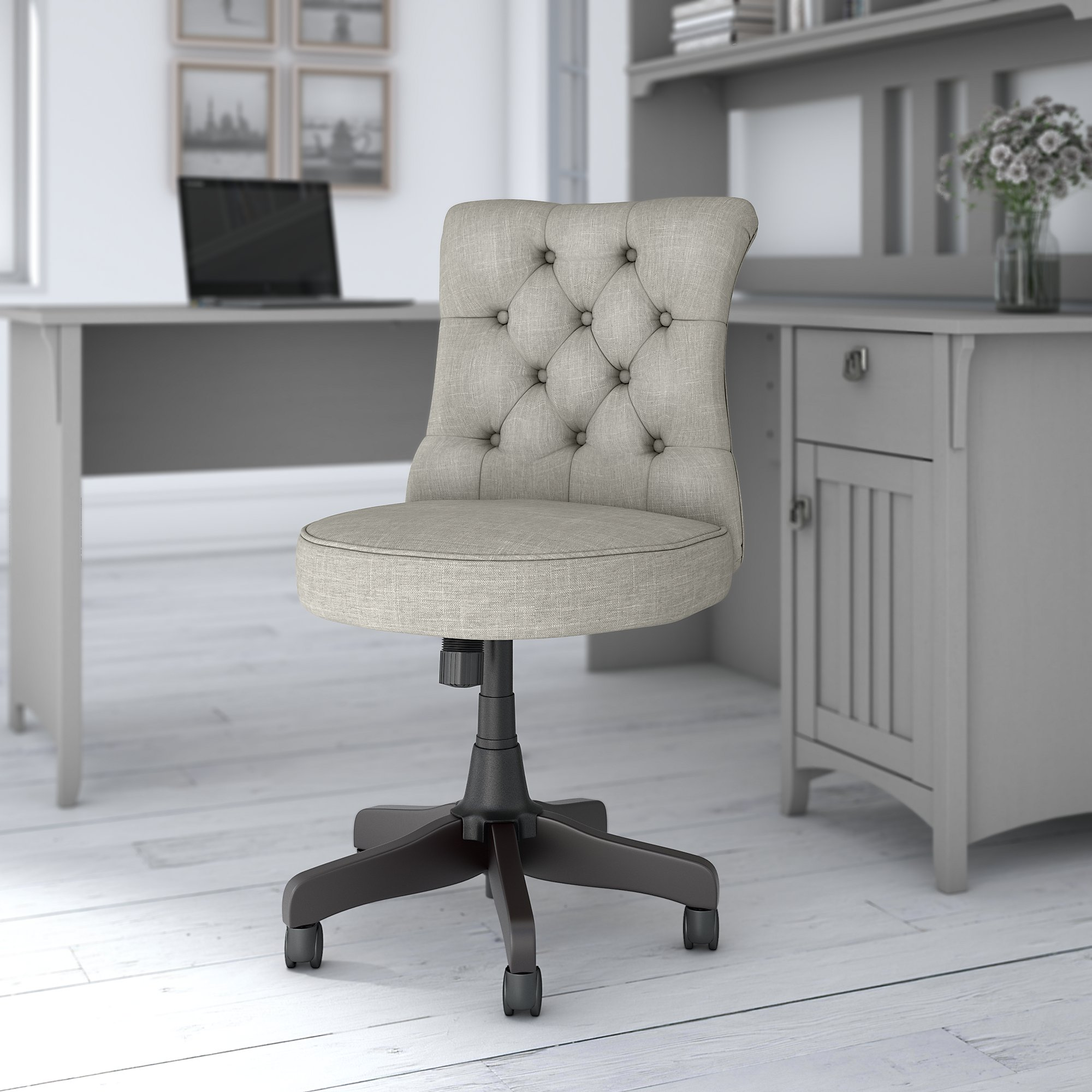 bush business furniture arden lane chair in light gray