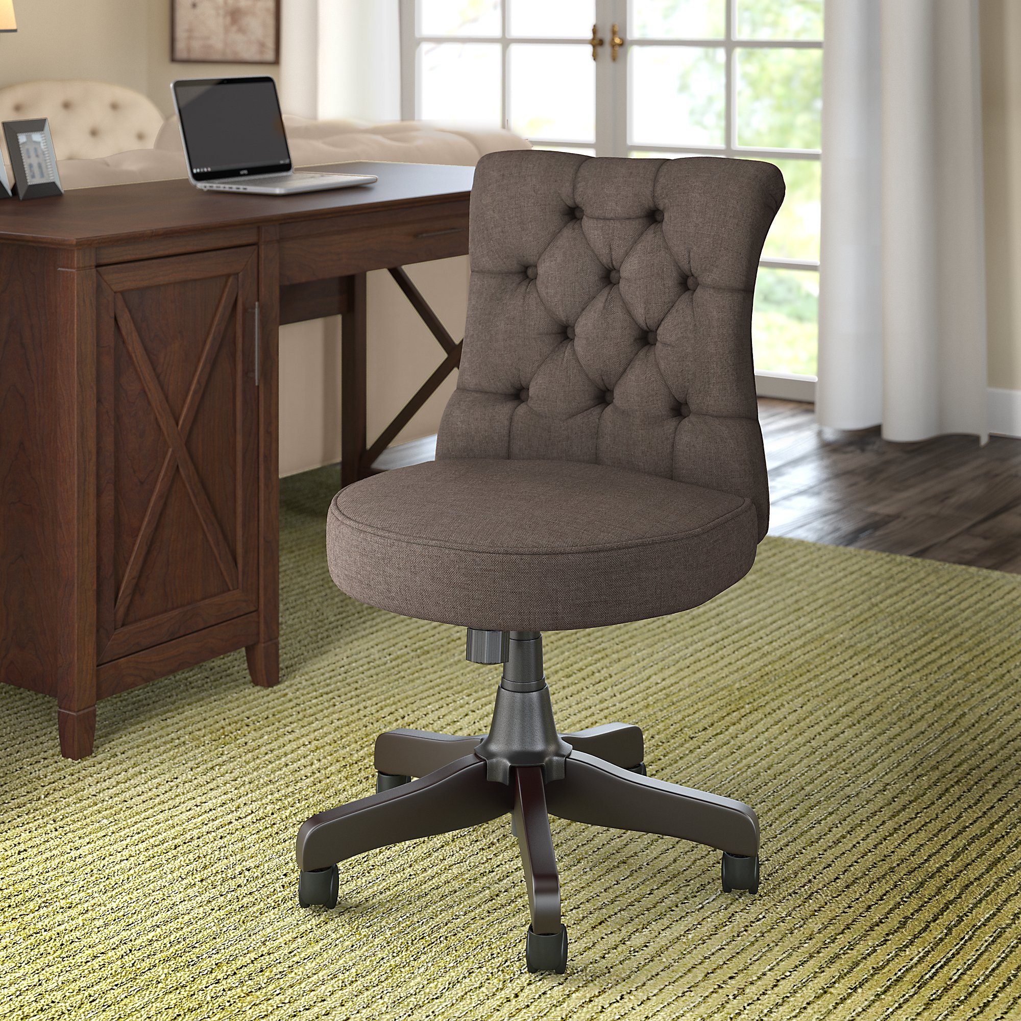 bush business furniture arden lane chair in brown fabric