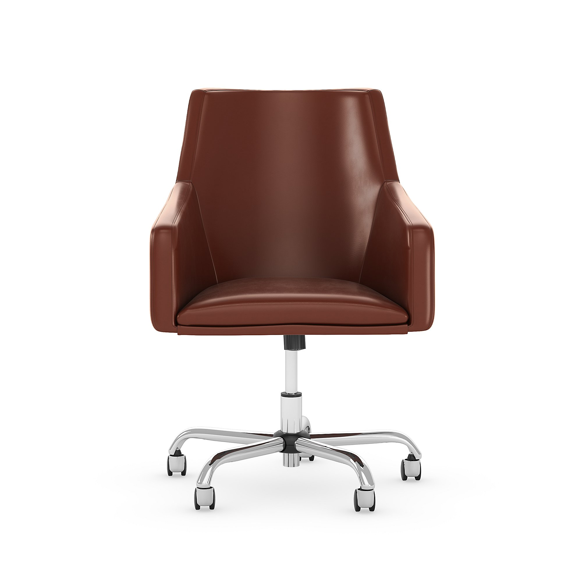 london harvest cherry leather office chair