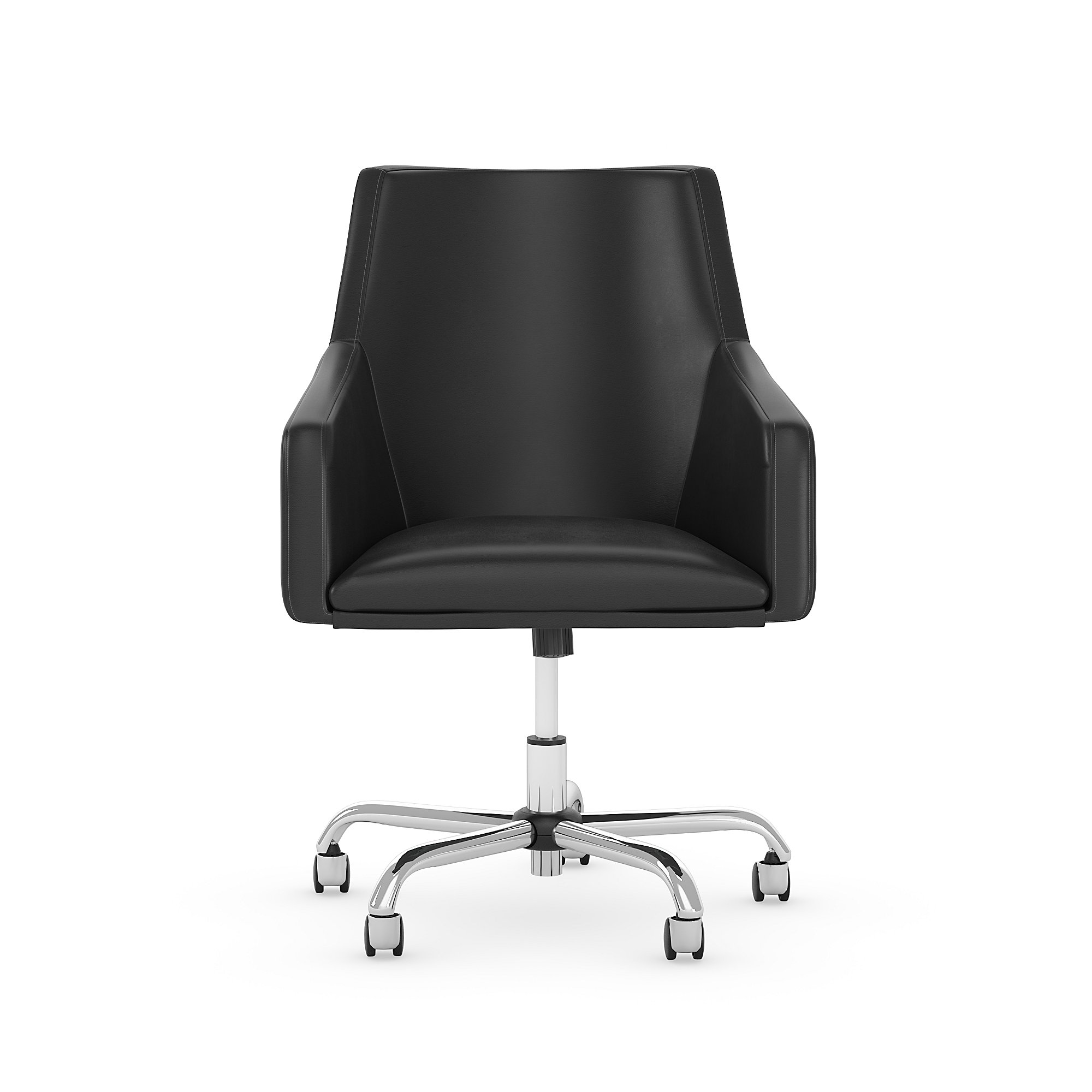 london black leather office chair