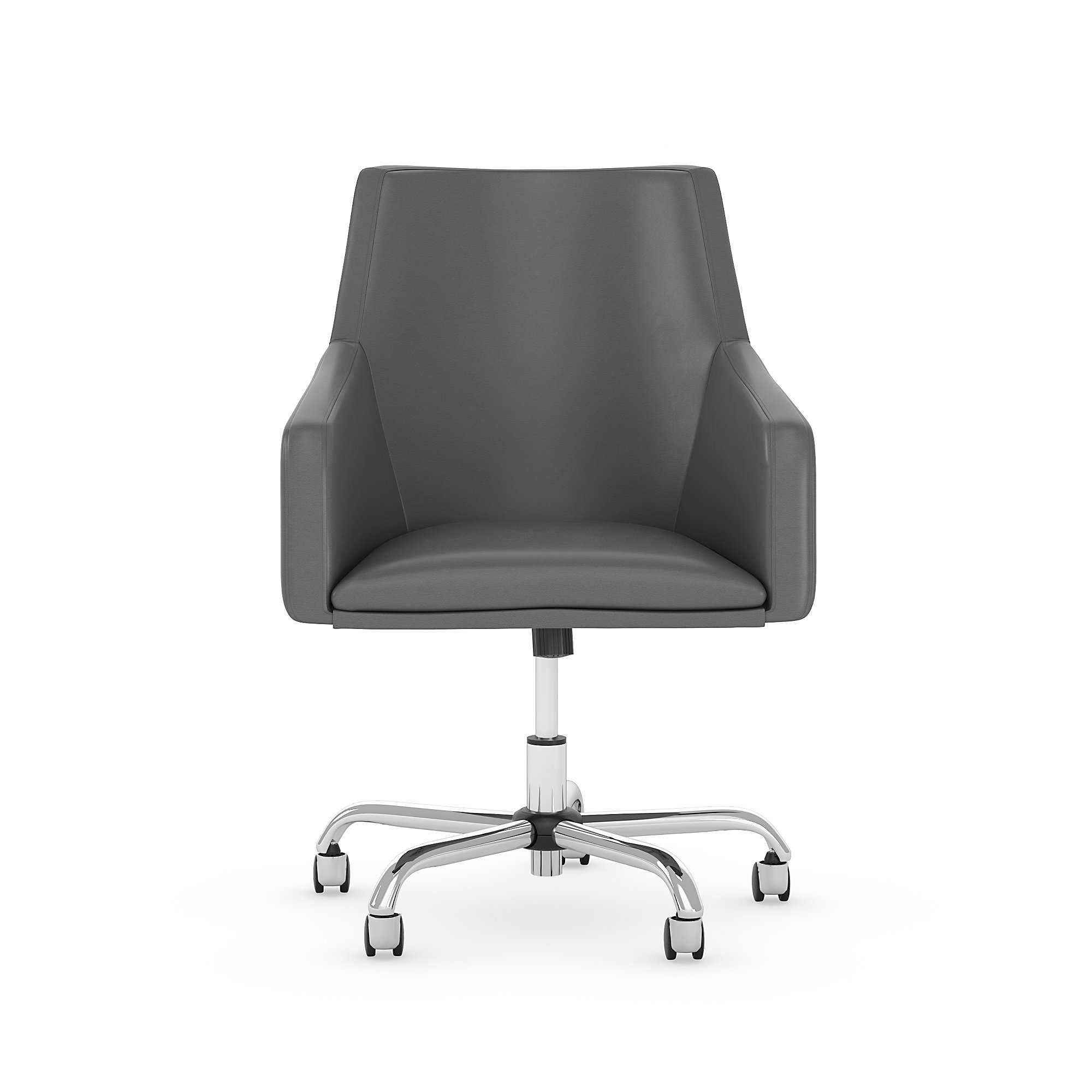 london dark gray leather office chair