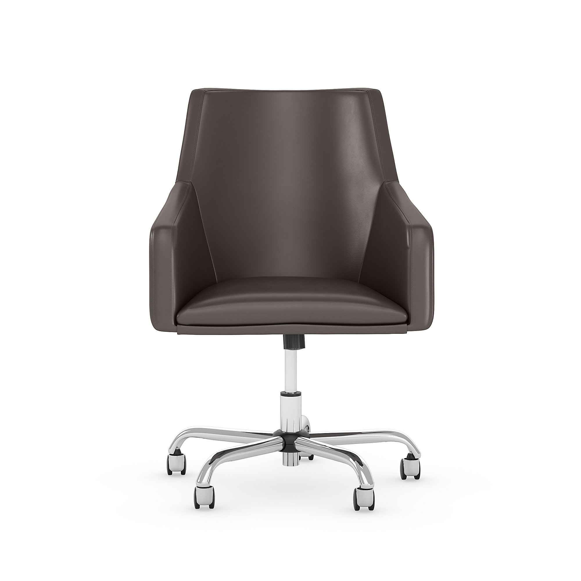 london brown leather office chair