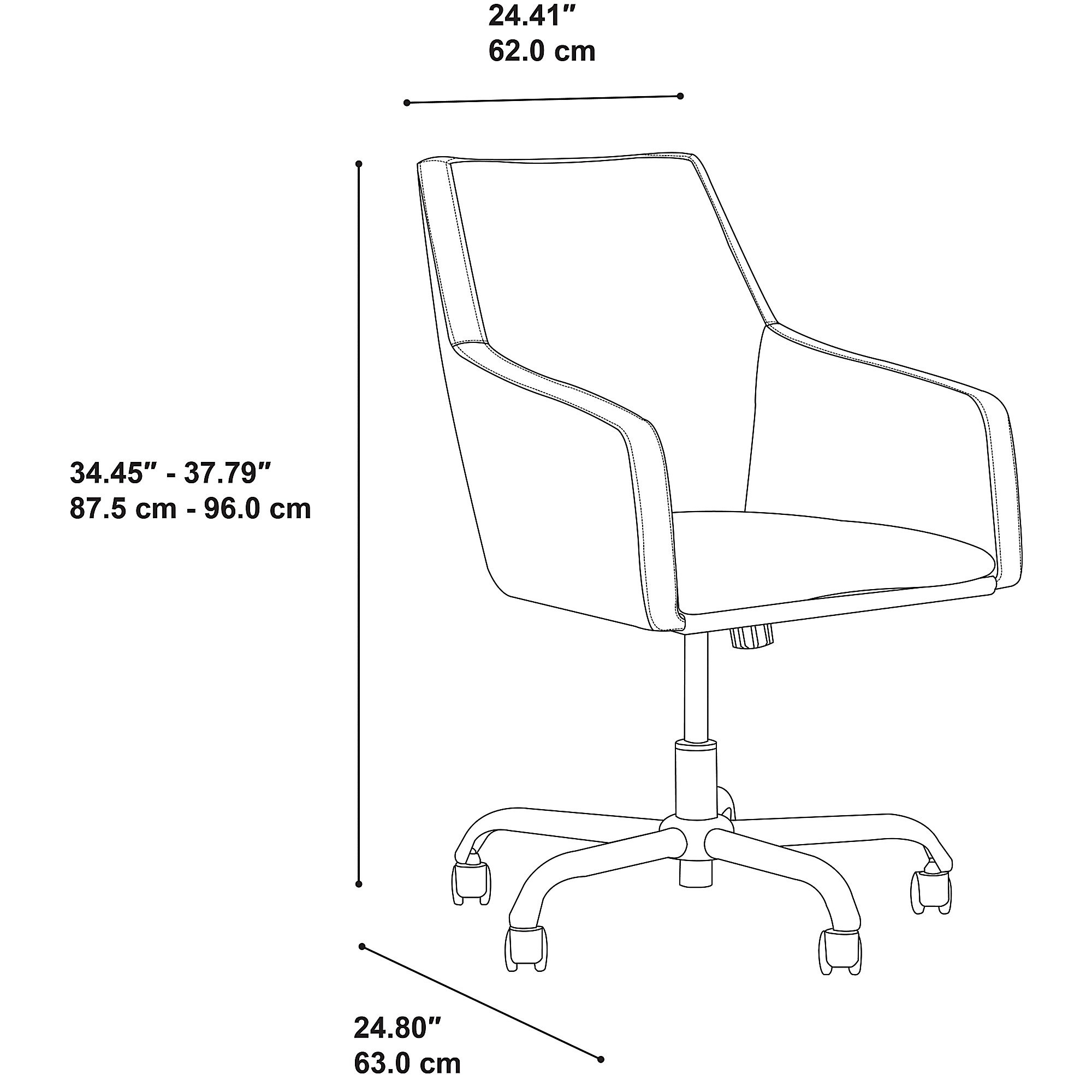 bbf london leather office chair dimensions
