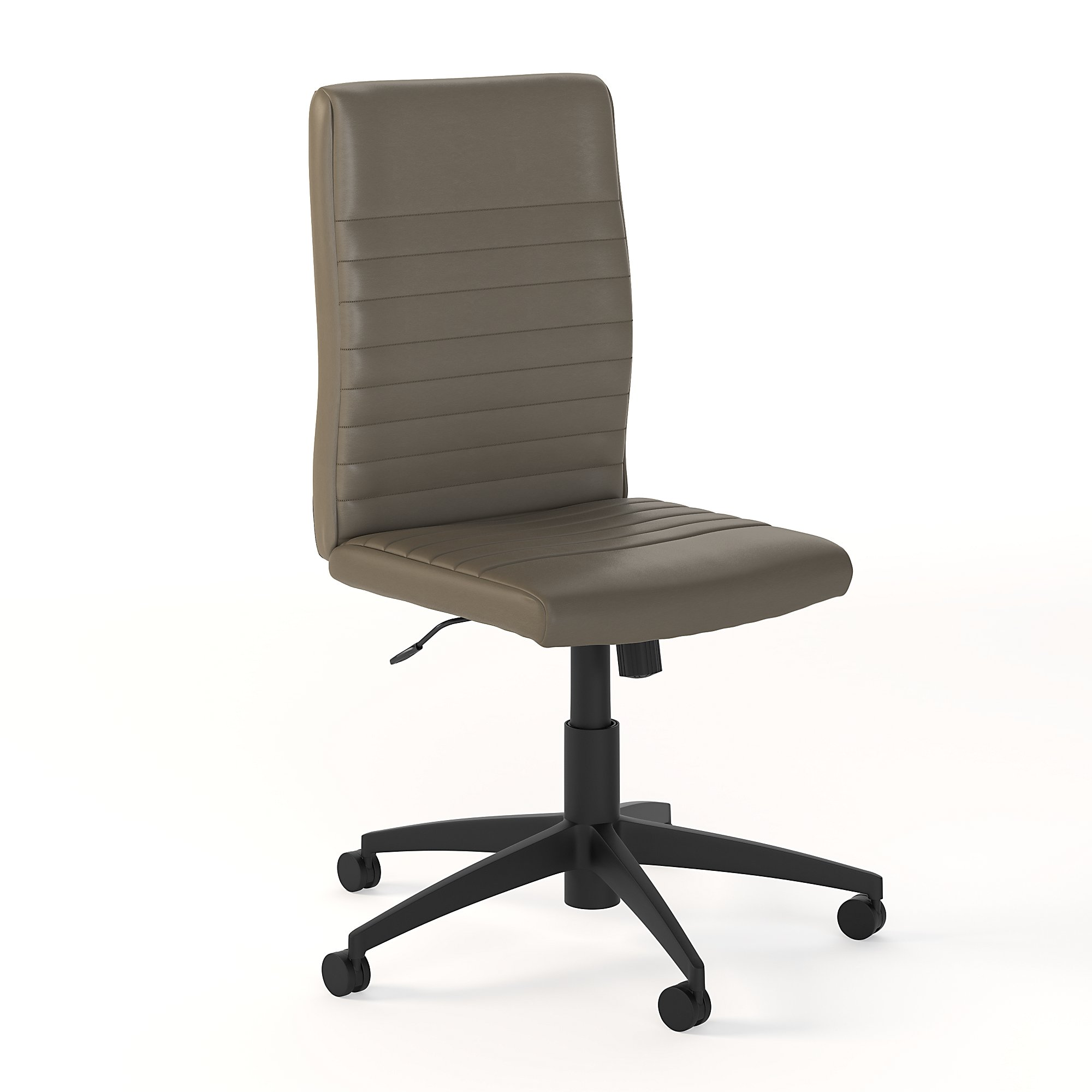 bush business furniture washed gray leather archive chair