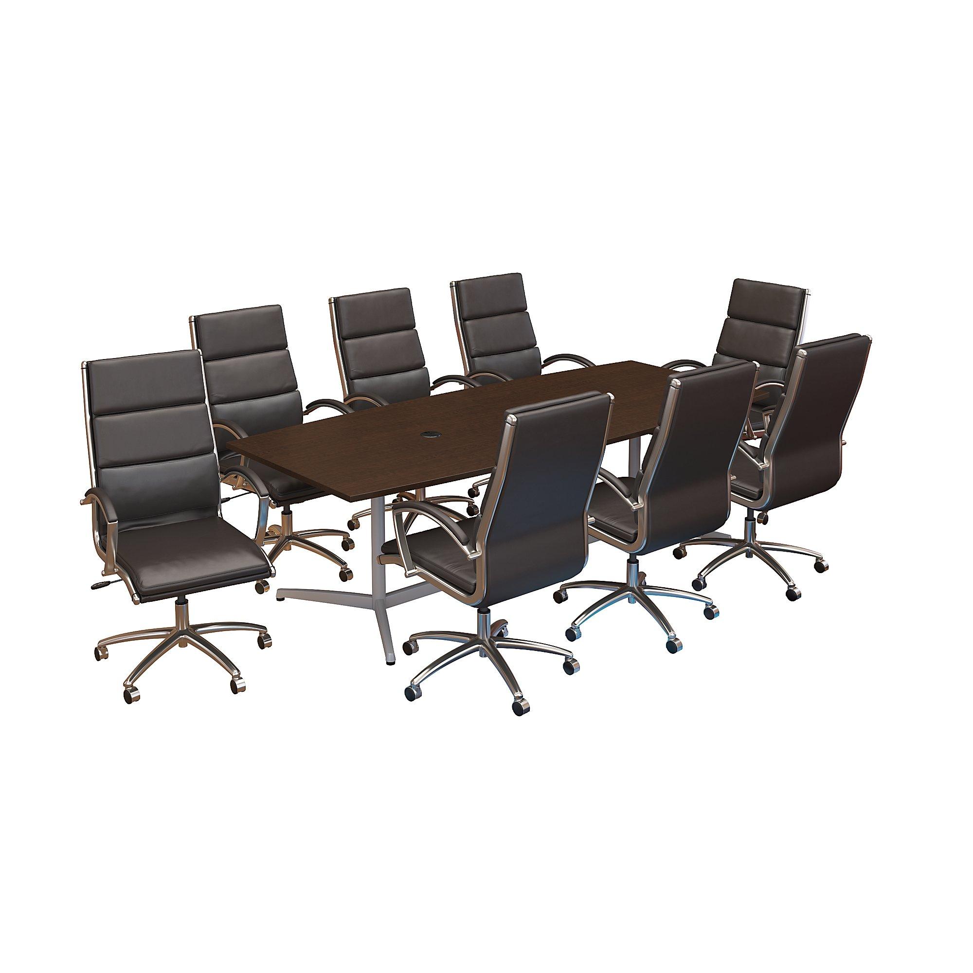 mocha cherry conference furniture set