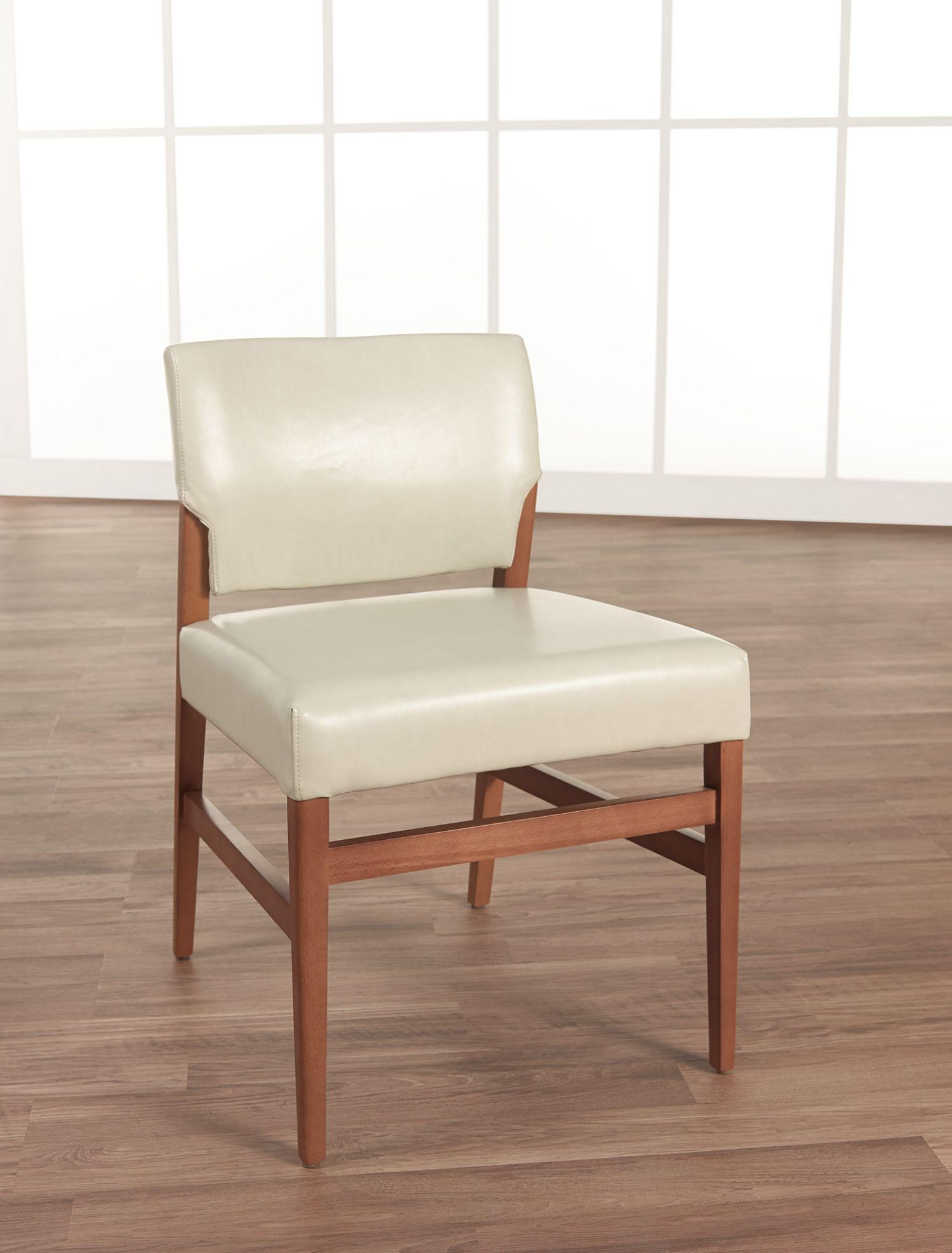 affina armless leather chair