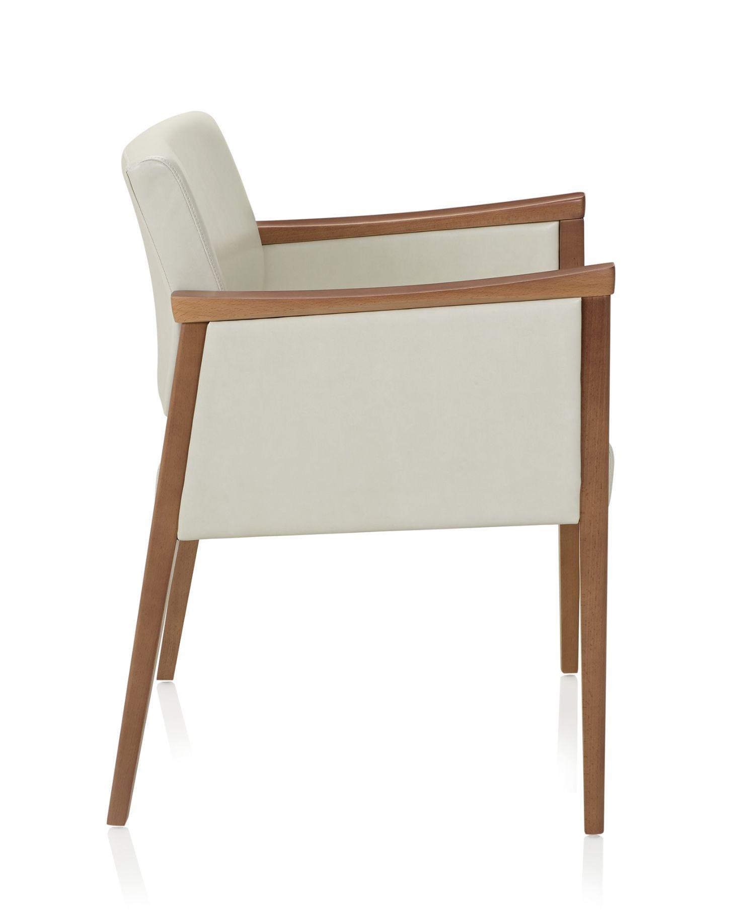 ki affina closed arm guest chair - side