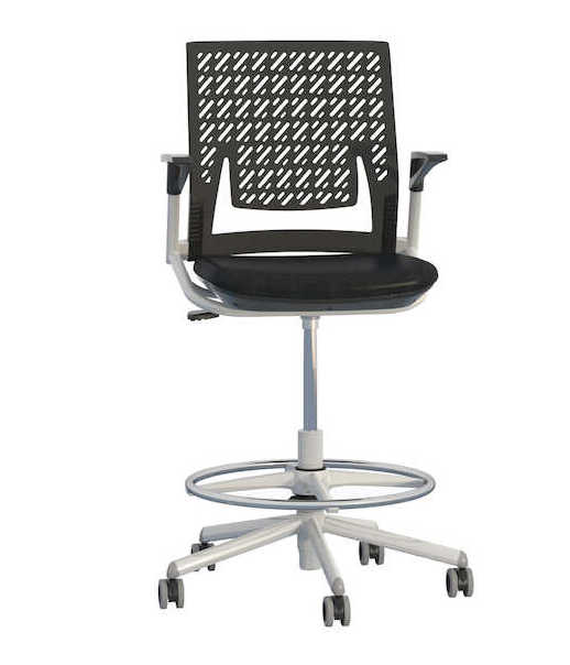 mayline thesis flex back task stool with arms