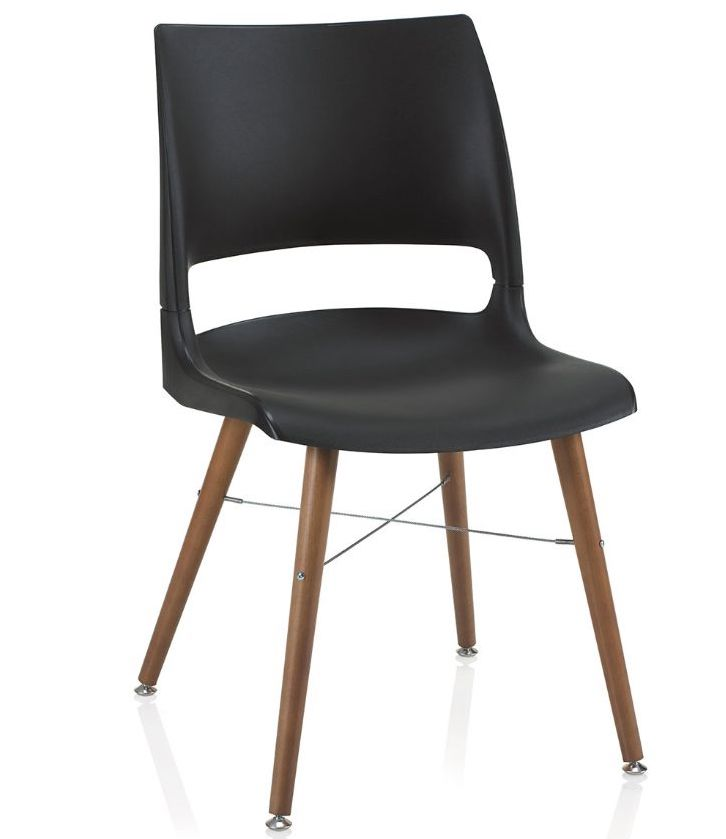 ki doni tapered wood leg guest chair