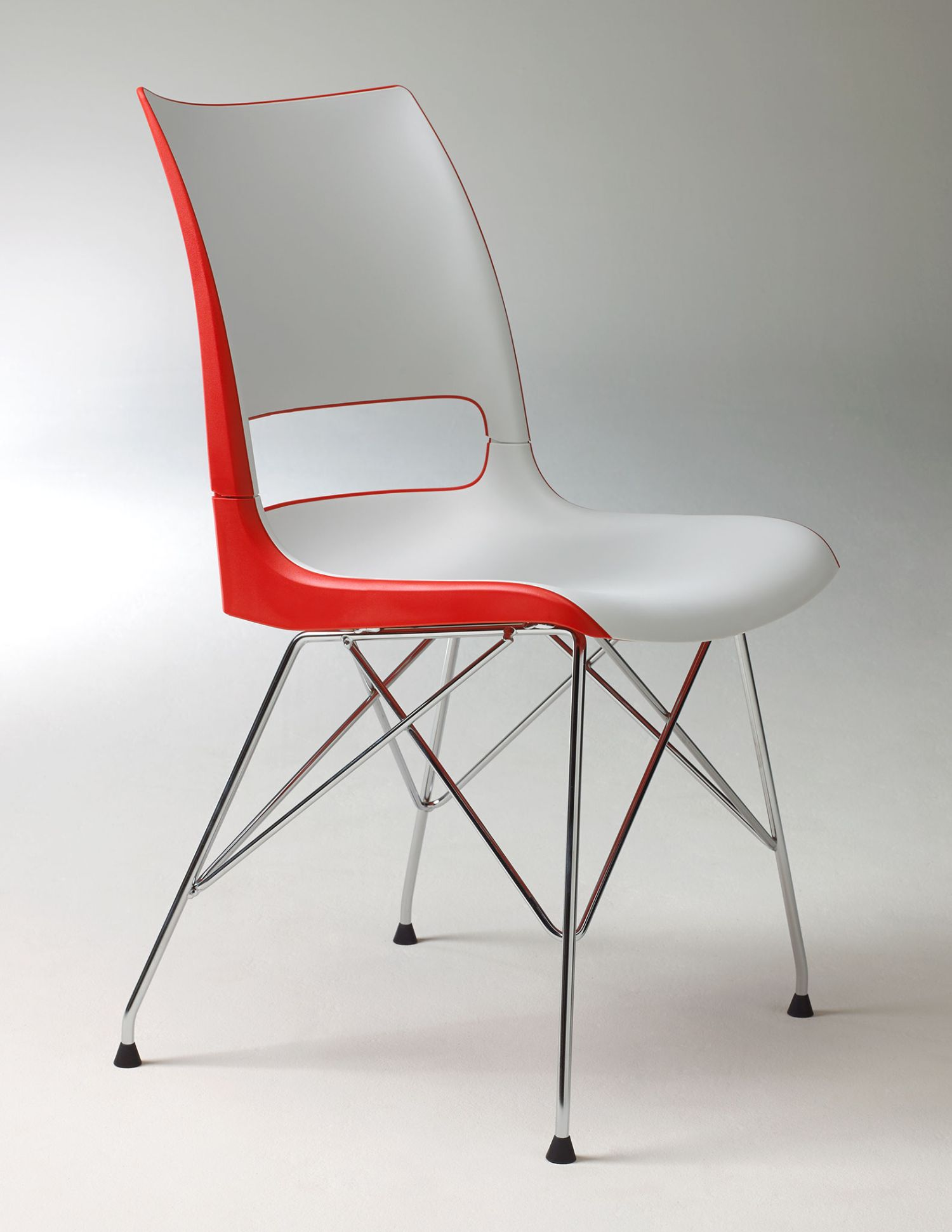doni two tone wire tower base chair