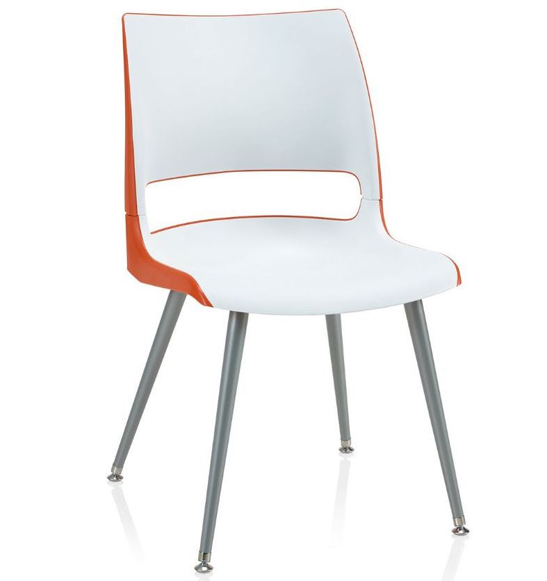 doni two tone guest chair with tapered steel legs