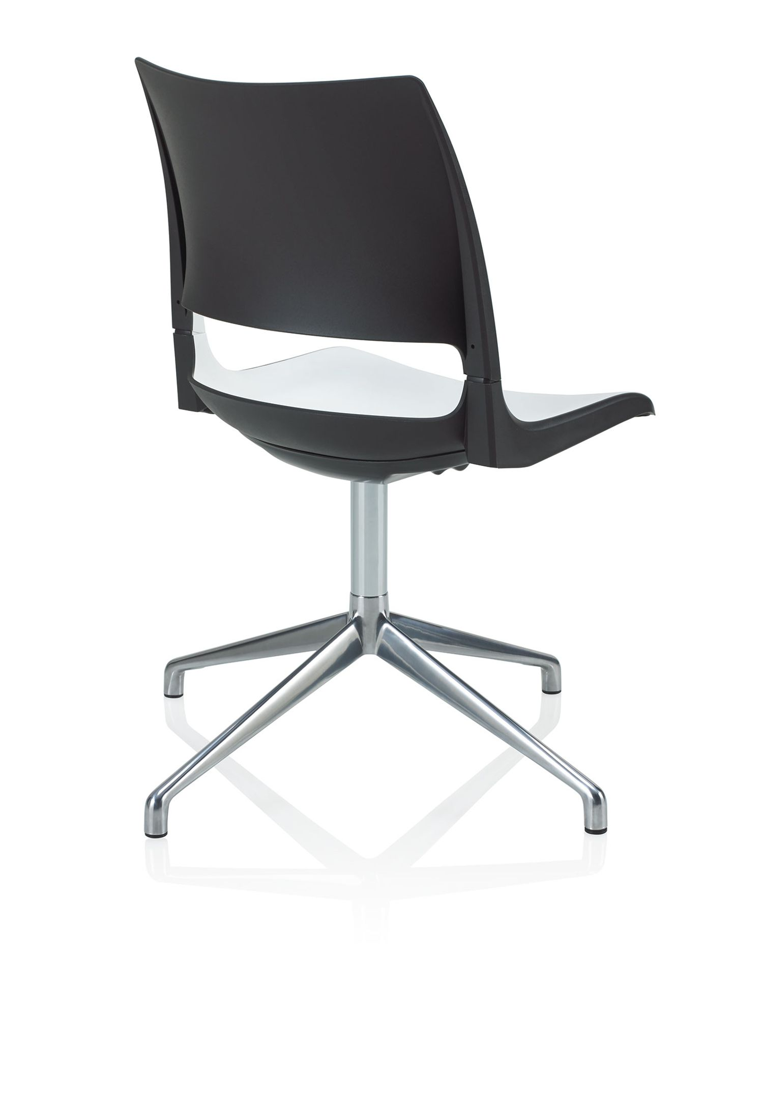 doni swivel base guest chair back profile