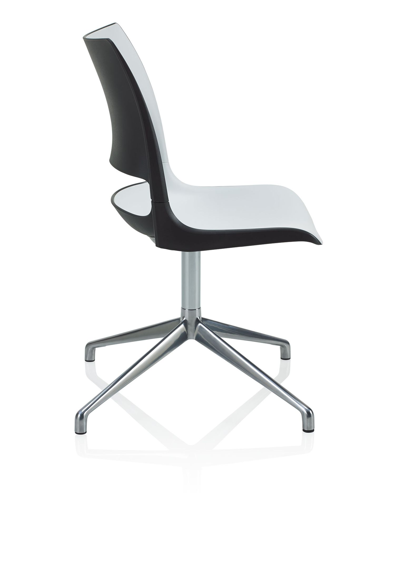 doni swivel base guest chair side profile