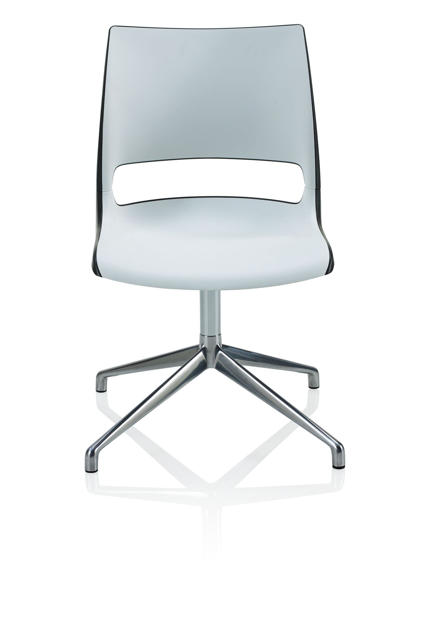 Strange Ki Doni Two Tone Swivel Base Guest Chair Theyellowbook Wood Chair Design Ideas Theyellowbookinfo