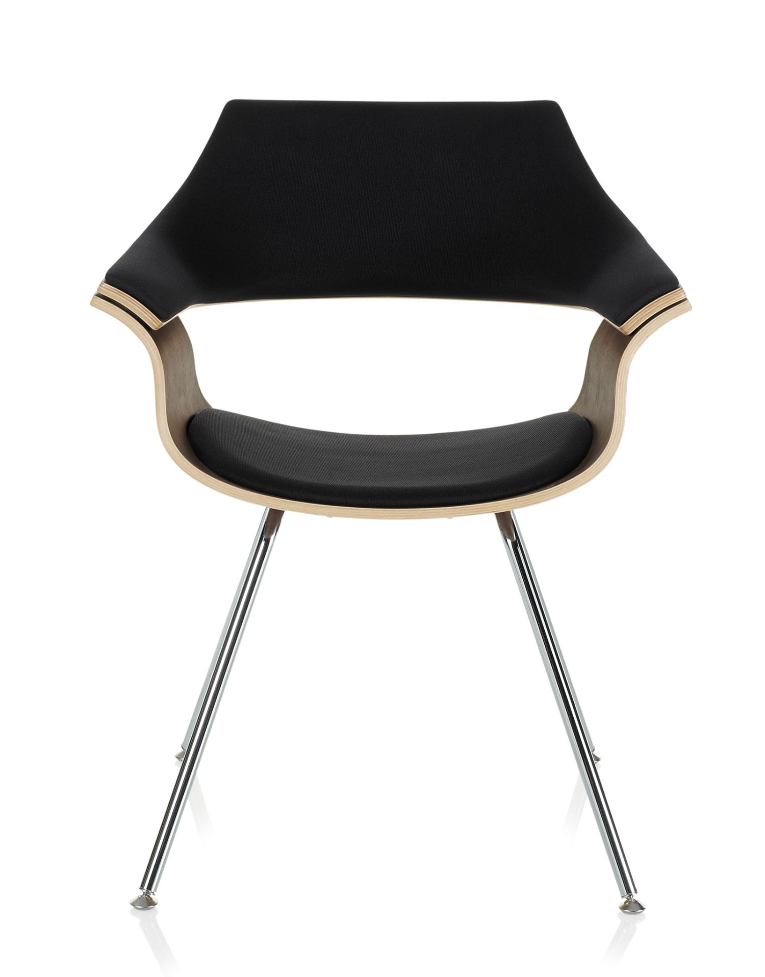 itoki curved wood guest chair