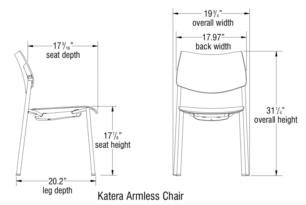 katera chair dimensions