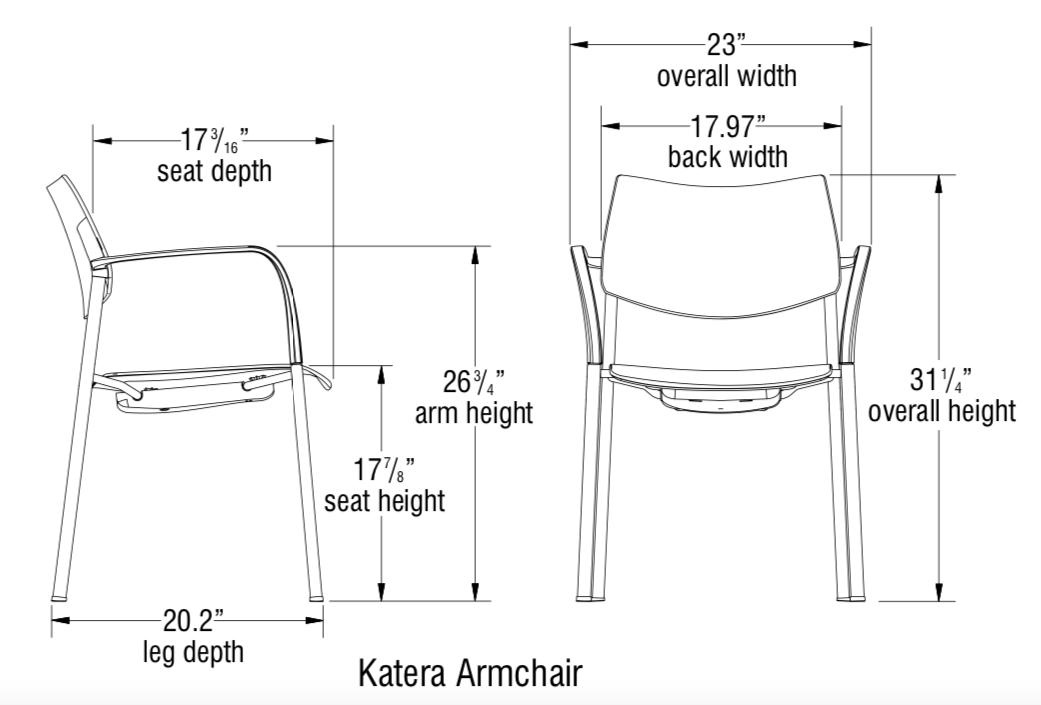 katera armchair dimensions