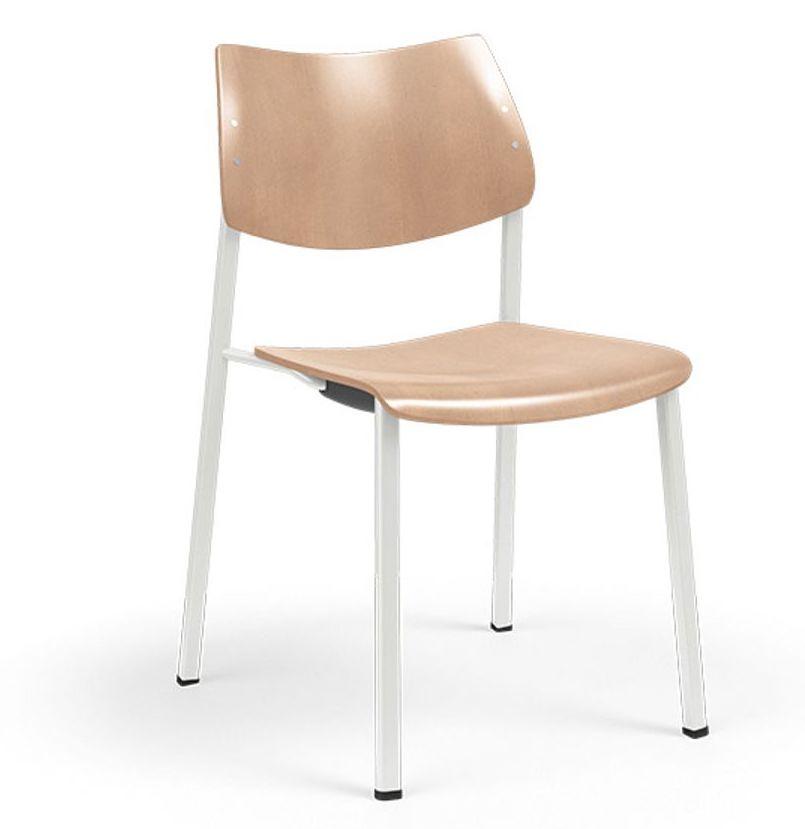 ki katera wood armless wood guest chair