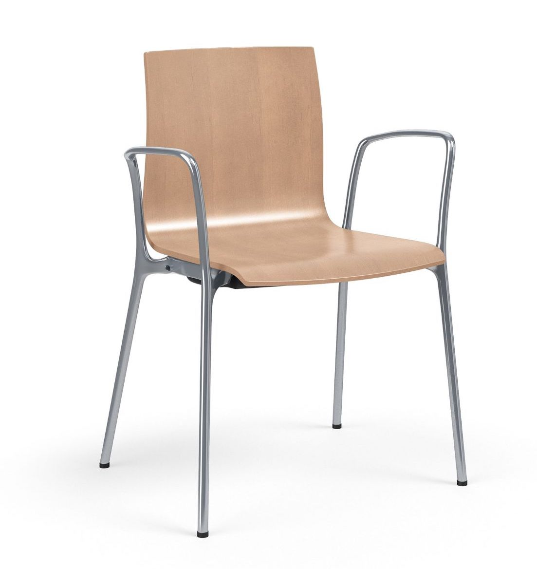 voz wood guest chair with arms