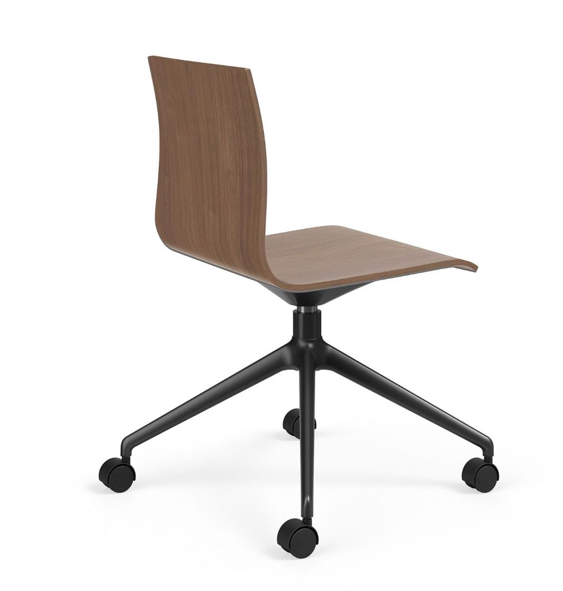 voz armless swivel chair back view
