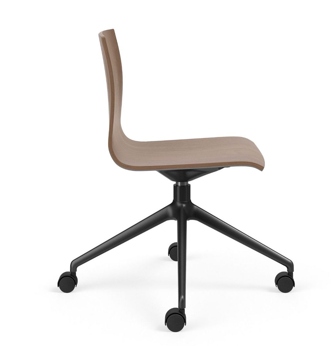 voz armless swivel chair side view