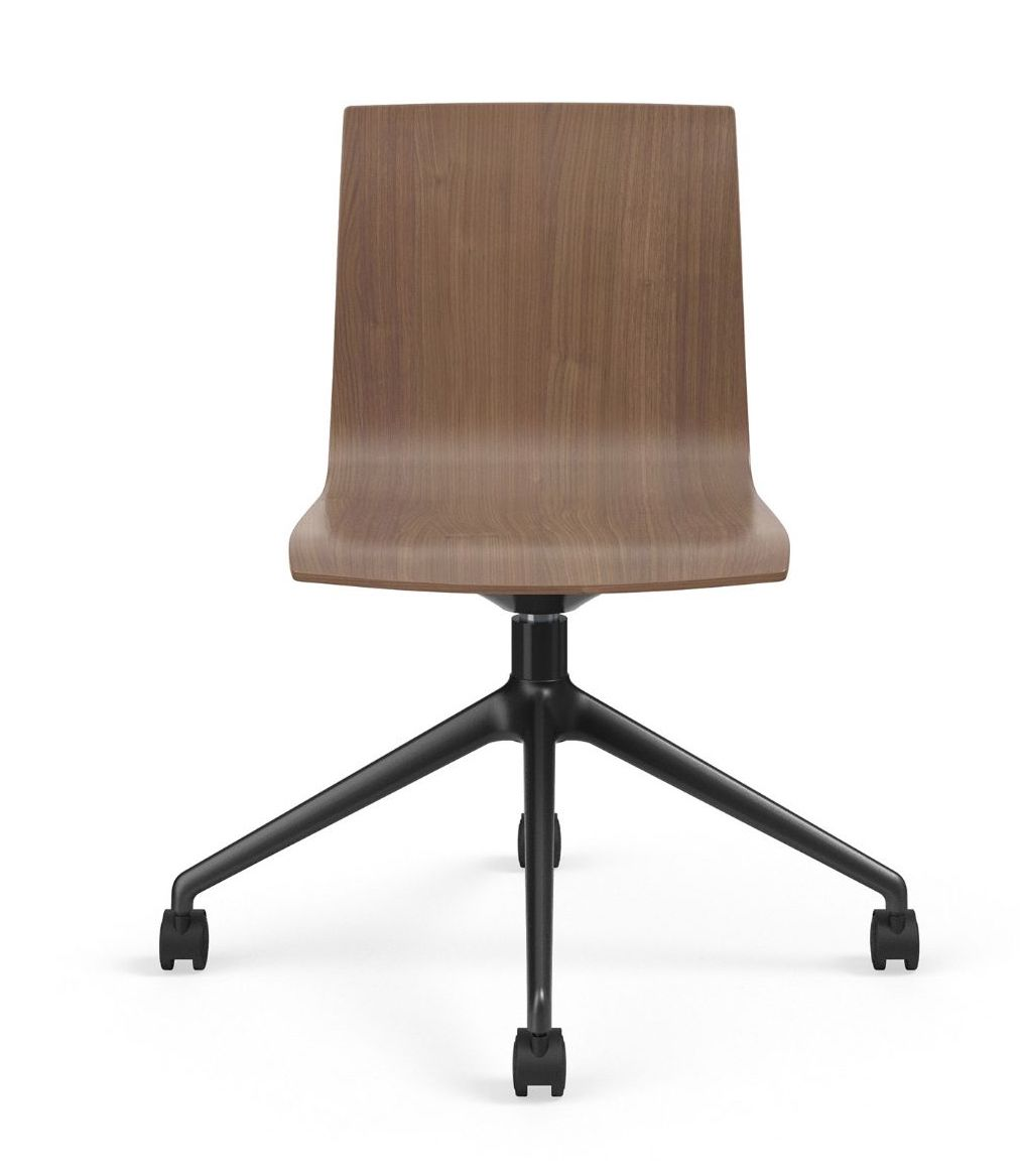 voz armless swivel chair front view
