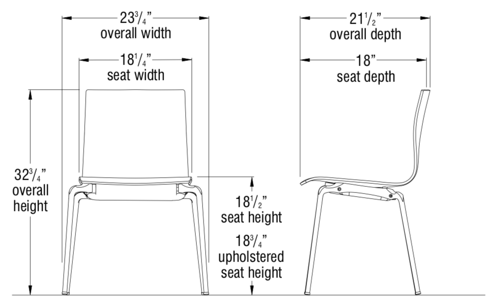 voz guest chair dimensions