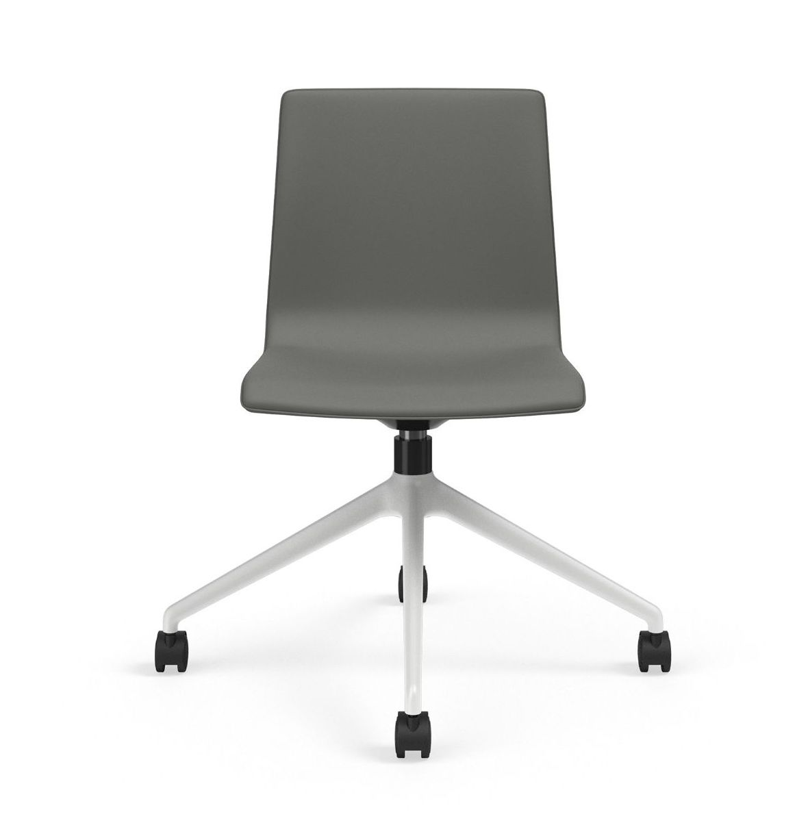 voz armless vinyl swivel chair front profile