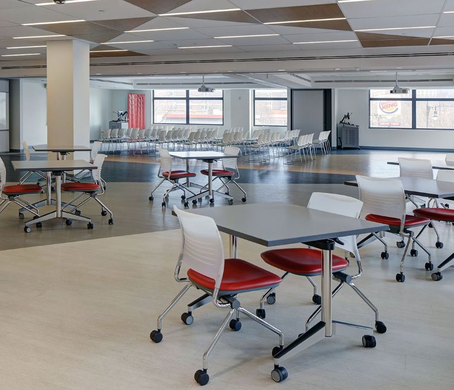 strive nesting chairs in collaborative workspace