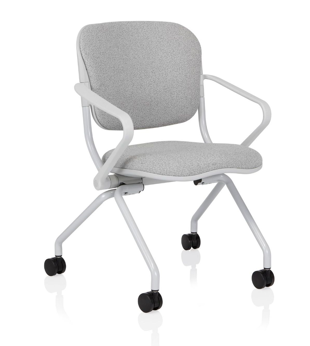 ki torsion on the go flip seat nesting chair with arms