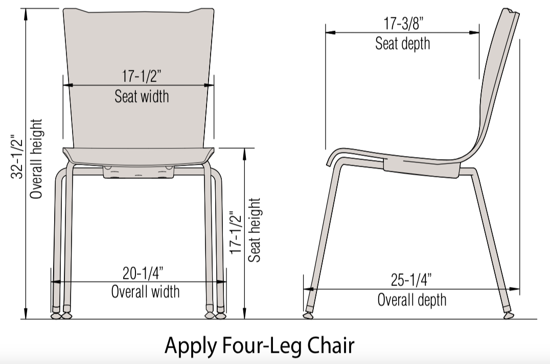 apply guest chair dimensions