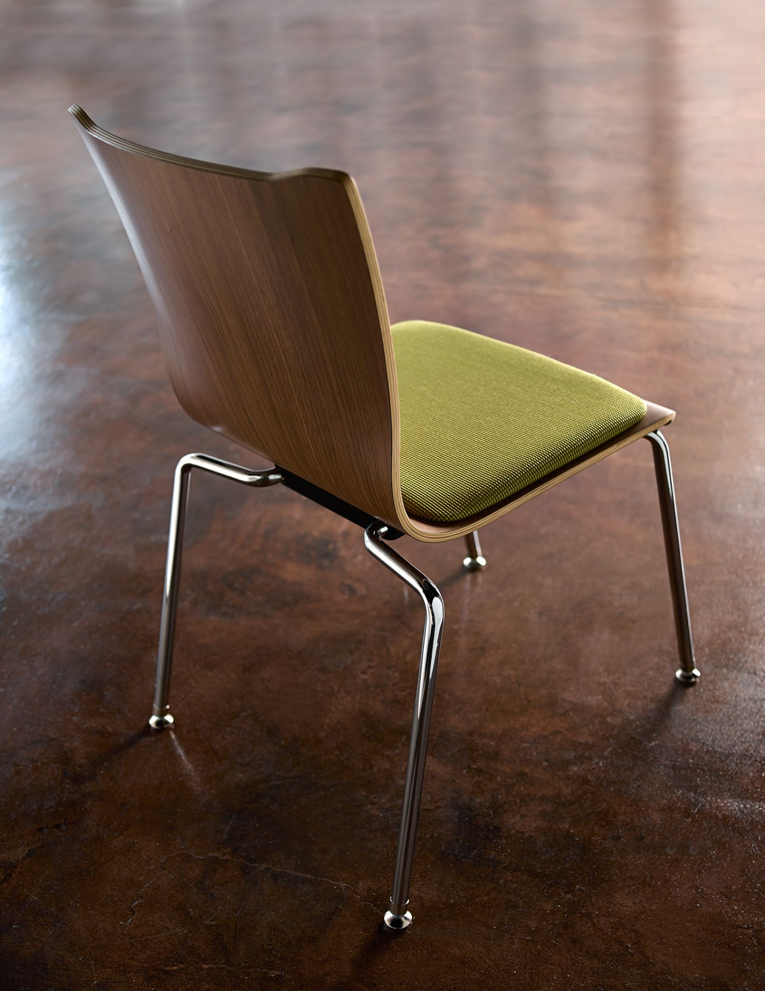 apply wood guest chair back profile