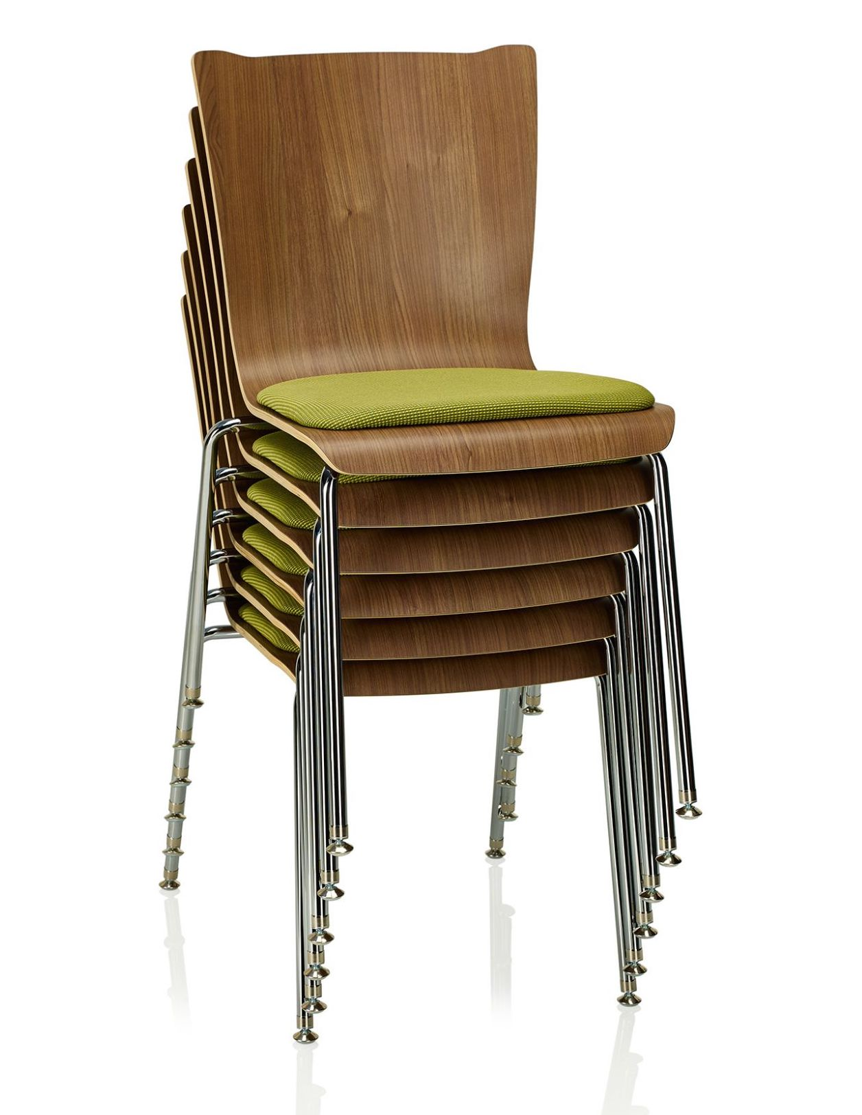 stacked ki apply wood guest chairs