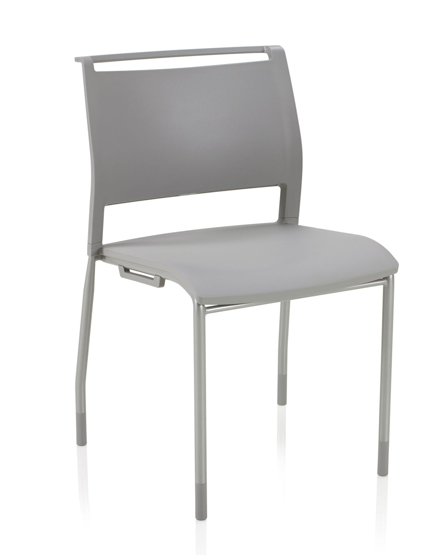 ki opt4 stack chair in stone gray