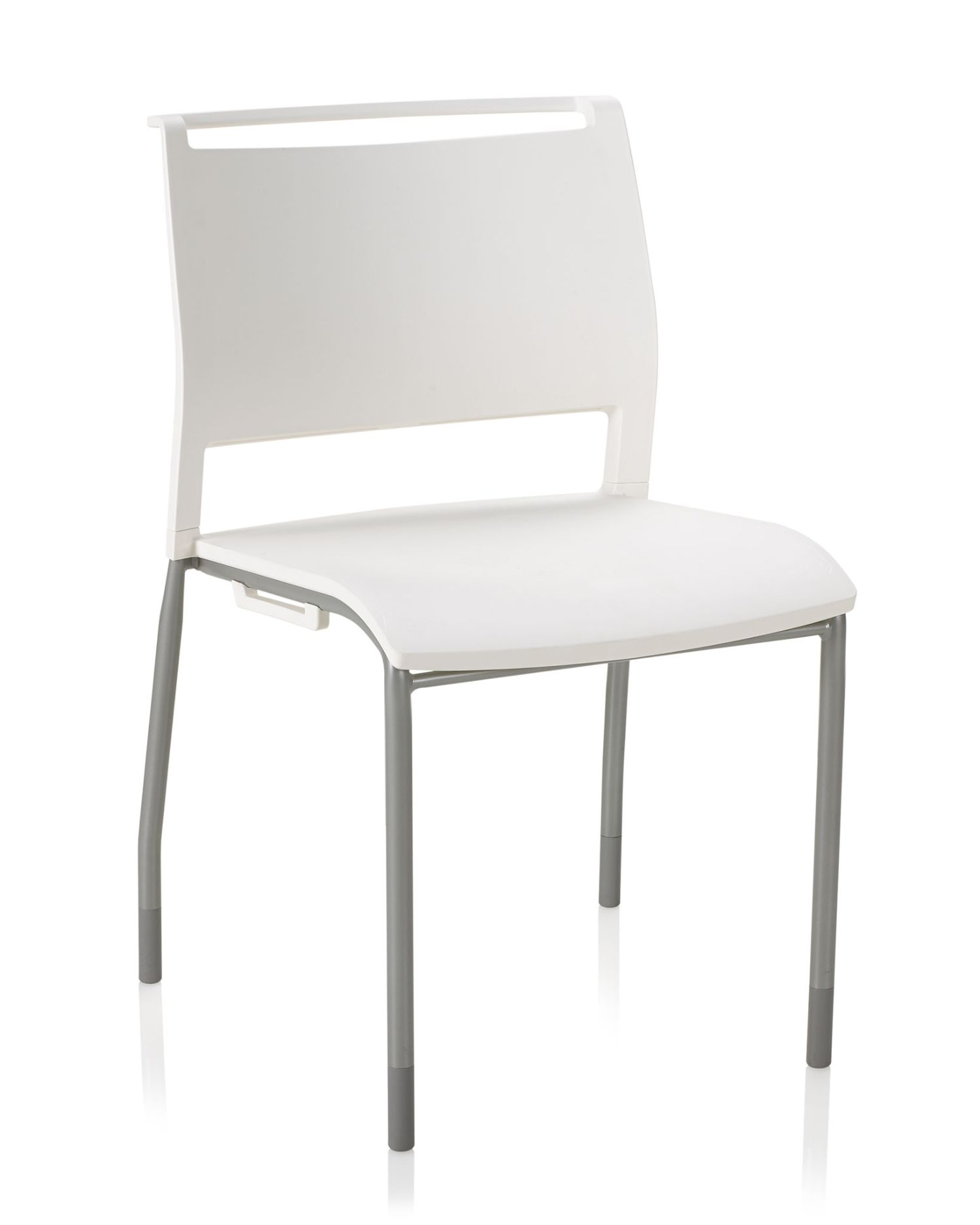 opt4 stacking chair in white