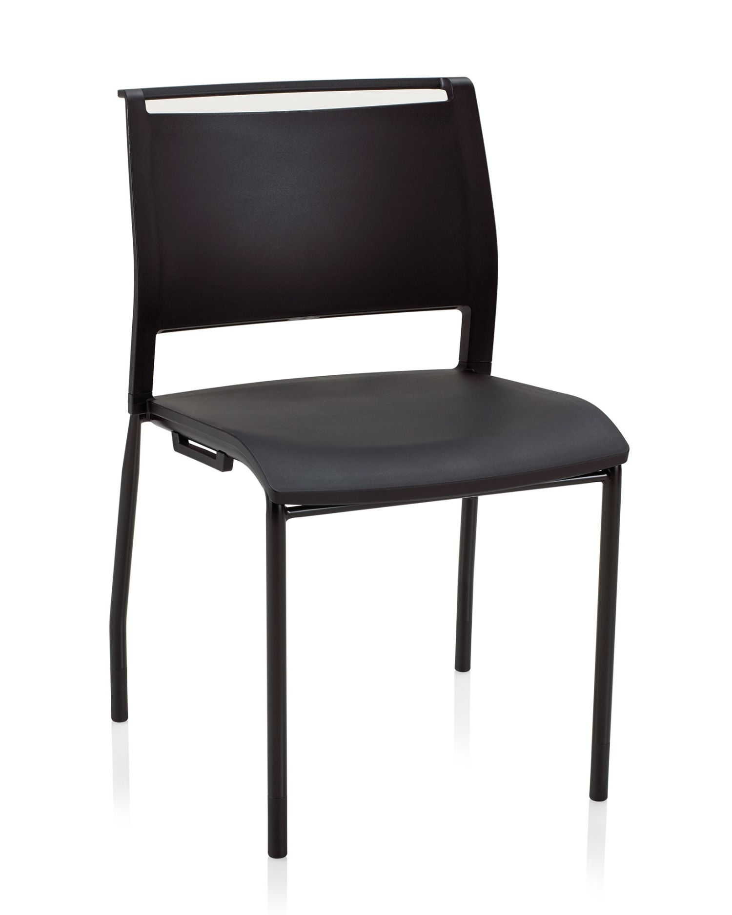 opt4 stacking chair in black