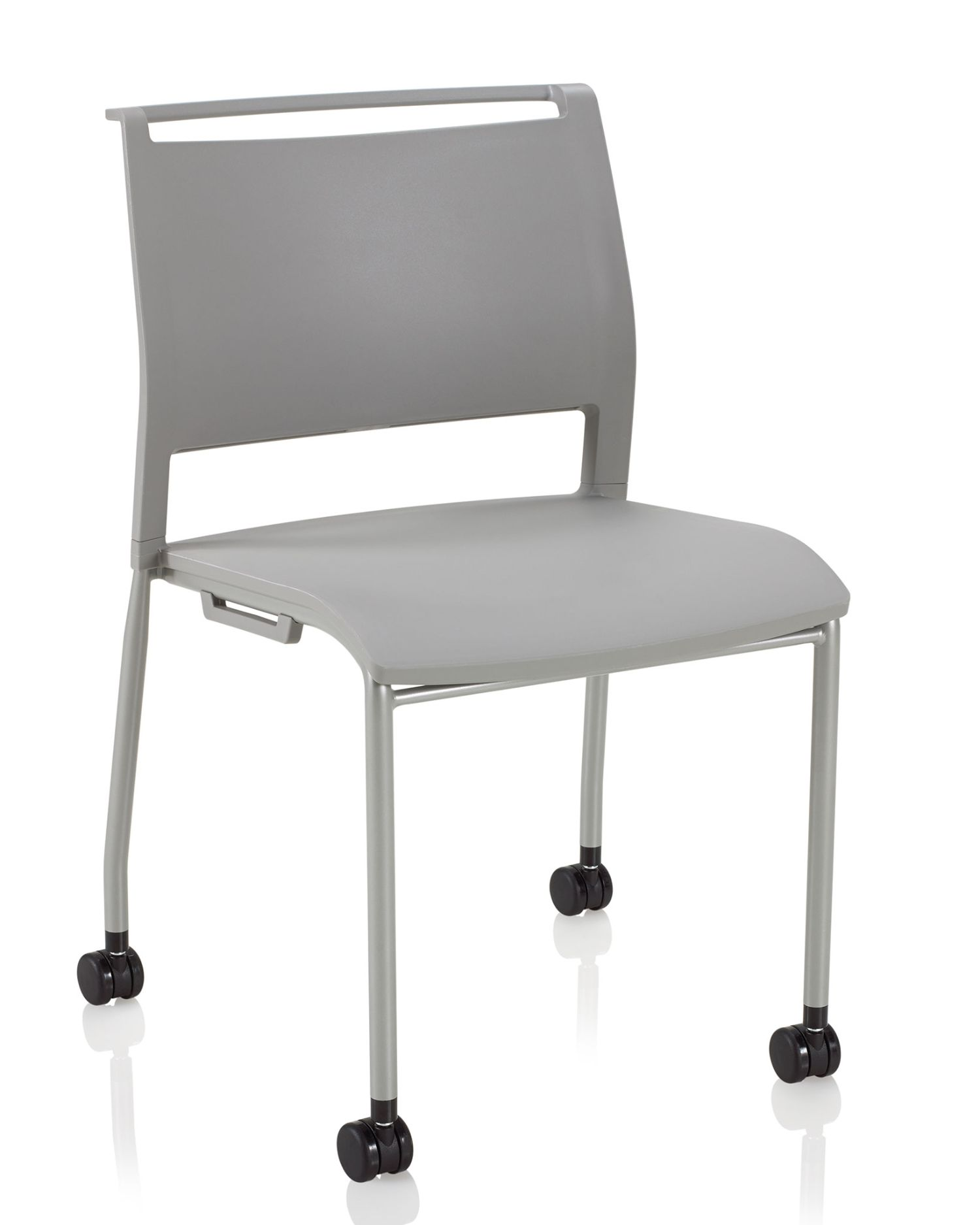 stone grey opt4 mobile stack chair